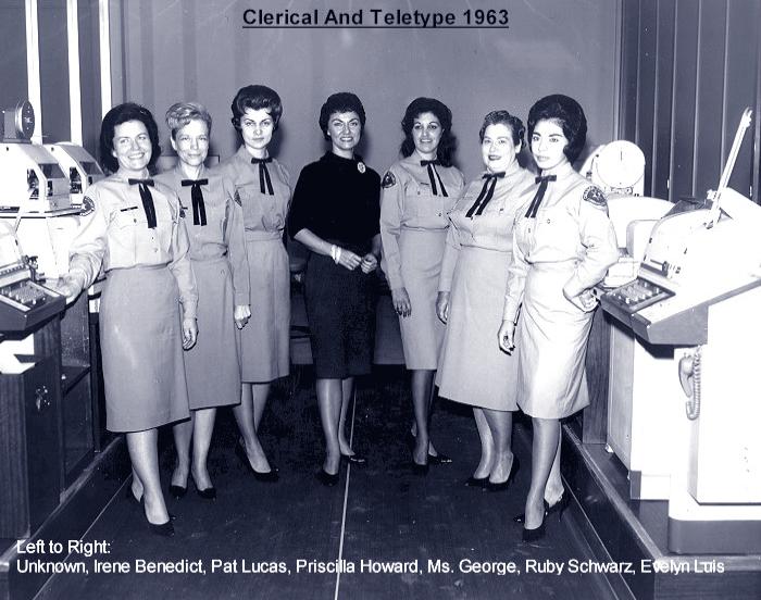 Clerical & Teletype Ladies of 1963